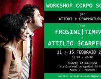 WORKSHOP CORPO SCRITTO con FROSINI/TIMPANO e SCARPELLINI- 11-15 FEBBRAIO 2019 – ROMA – per Attori e Drammaturghi