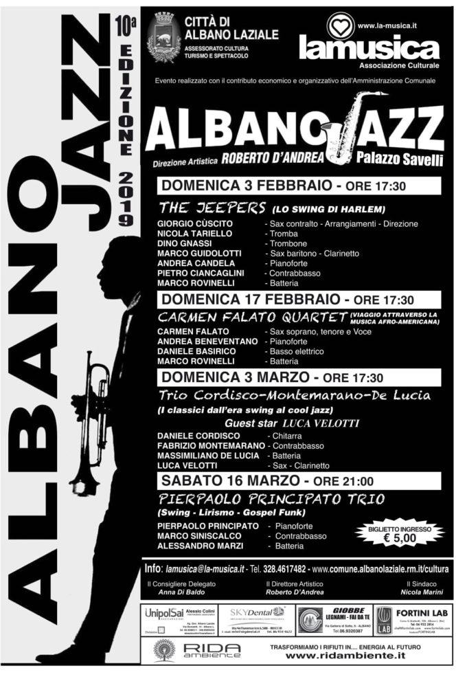 Albano Laziale: dal 3 febbraio la X^ edizione di Albano Jazz a Palazzo Savelli