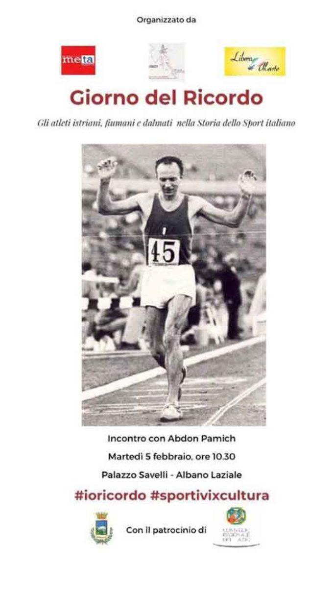 Giorno del Ricordo: Ad Albano il Campione Olimpico Abdom Pamich incontra gli studenti