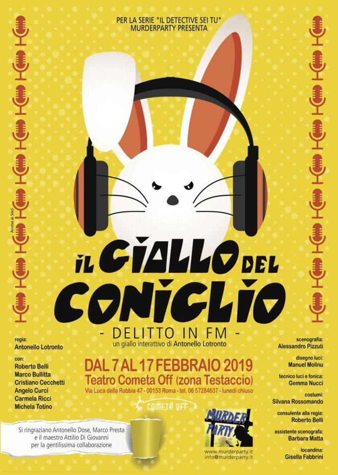 Teatro Cometa Off – IL GIALLO DEL CONIGLIO