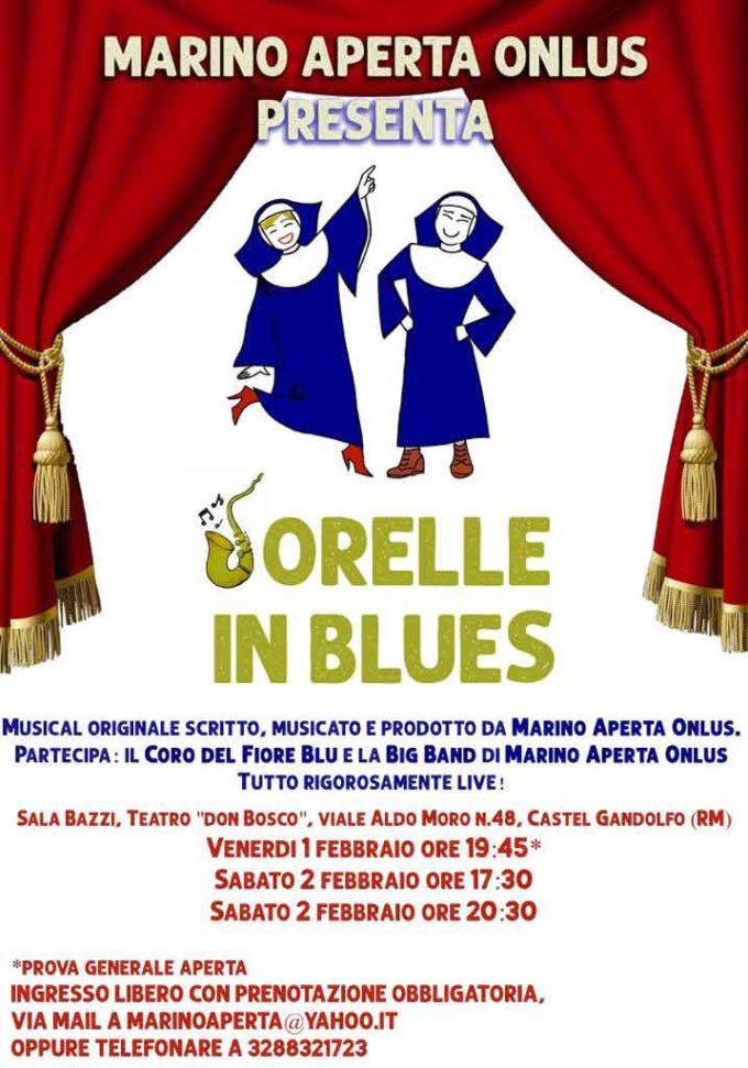 Il musical 'Sorelle in blues' di Marino Aperta Onlus replica a Castel Gandolfo