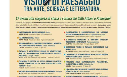 Una e più visioni del paesaggio dei Castelli Romani e Prenestini nella mostra diffusa promossa dal Museumgrandtour