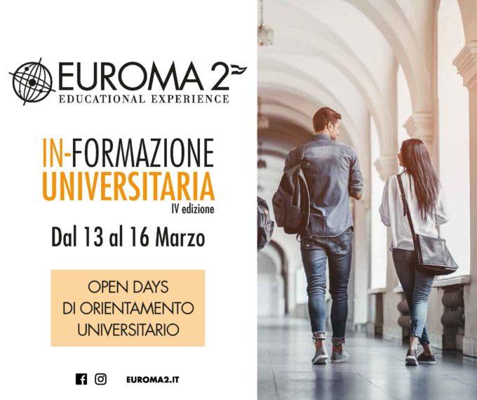 """""""In-Formazione Universitaria torna a  Euroma2:"""