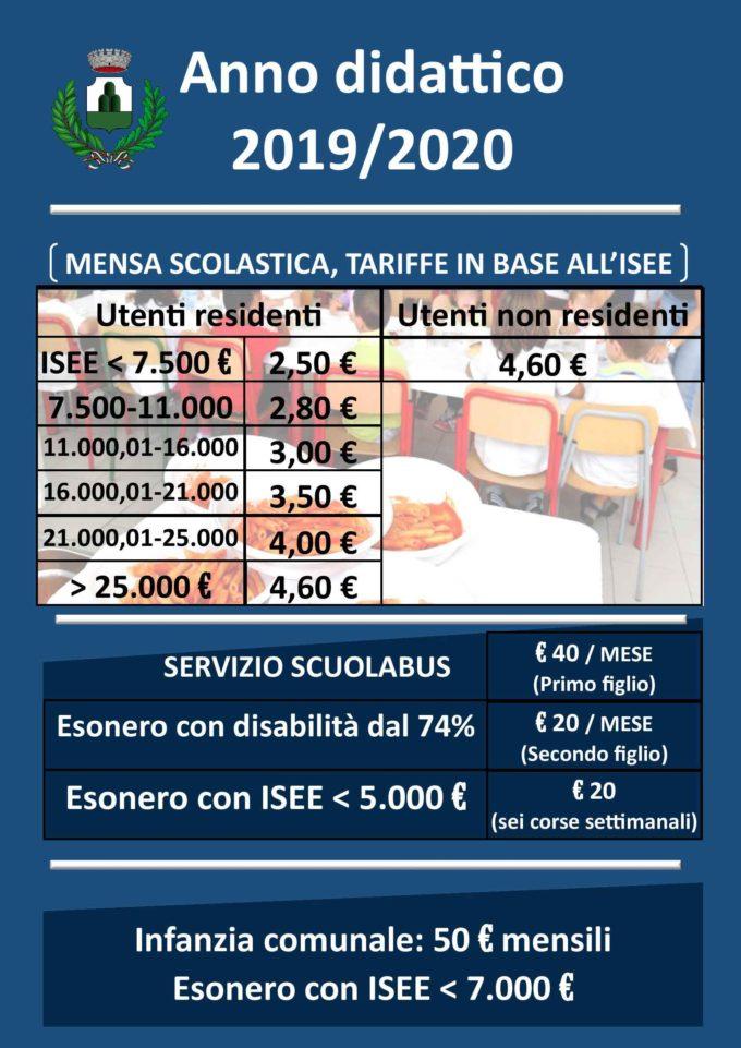"""MONTE COMPATRI – SCUOLA: """"INVARIATE LE TARIFFE PER L'ANNO DIDATTICO 2019/2020"""