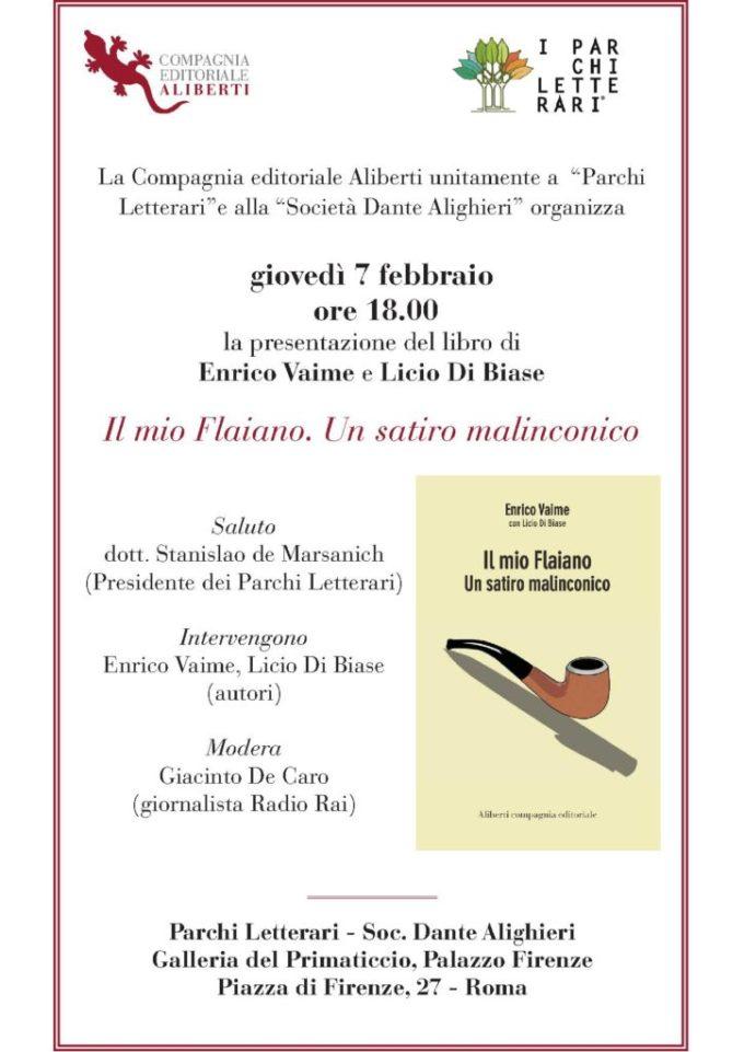 """""""Il mio Flaiano"""" di Enrico Vaime con Licio di Biase"""