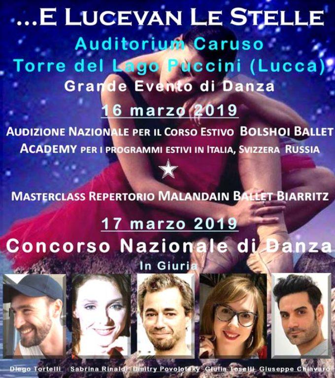 Lucevan Le Stelle Danza-AUDIZIONE + CONCORSO a Torre del Lago