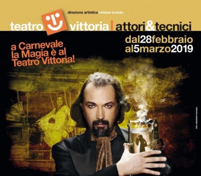 """A Carnevale vivi la magia al Teatro Vittoria con """"L'Illusionista""""   dal 28 febbraio al 5 marzo   Roma"""