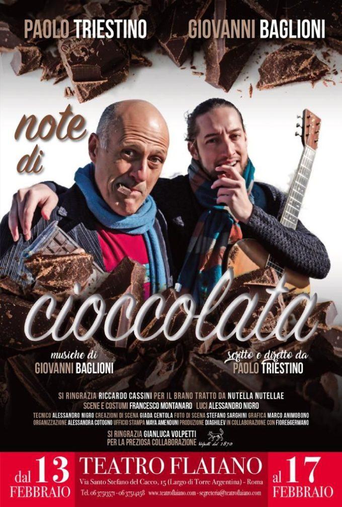 """""""Note di cioccolata"""" al Teatro Flaiano con Paolo Triestino e Giovanni Baglioni"""