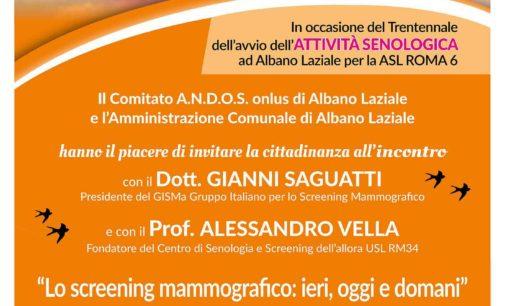 """Albano Laziale, 8 marzo convegno """"Lo screening mammografico: ieri, oggi e domani"""" a Palazzo Savelli"""