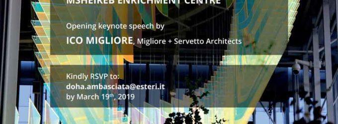 Ico Migliore Ambasciatore del Design Italiano a Doha – 20 marzo 2019