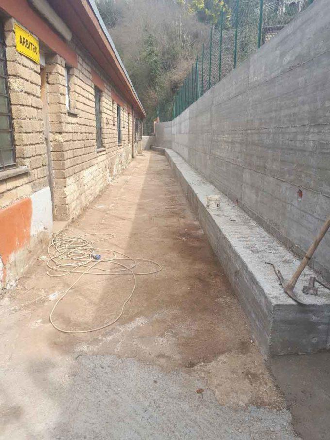 Ricostruito il muro del Campo Sportivo di Zagarolo