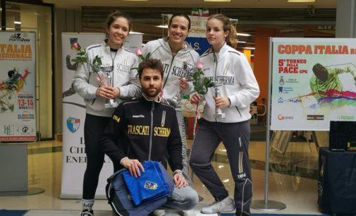 Frascati Scherma, podio completo nella Coppa Italia regionale con Grimaldi, Genovese e Di Russo