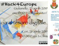 #Hack4Europe: a Cori e Giulianello la caccia al tesoro virtuale alla scoperta dei beni culturali e delle comuni radici europee