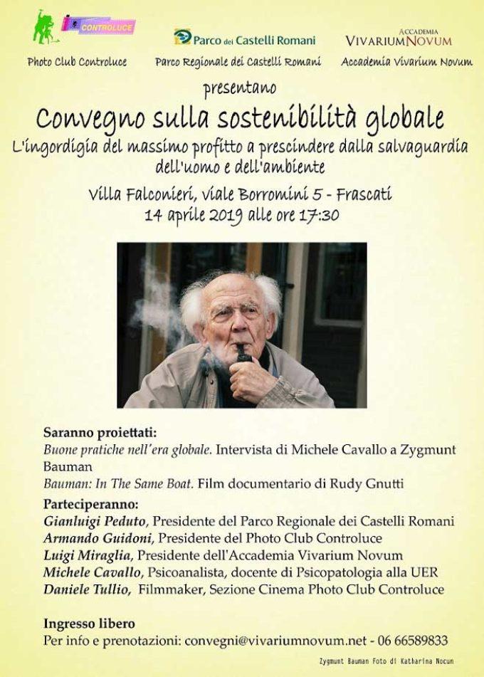 """""""In the same boat"""", il docufilm protagonista di un convegno sulla sostenibilità globale a Villa Falconieri a Frascati"""
