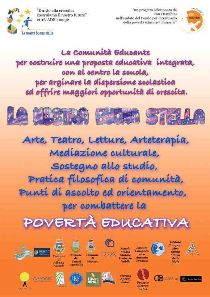 """I progetti """"Patti d'impatto"""" e """"La nostra buona stella""""  contro la povertà educativa nelle scuole di Marino"""