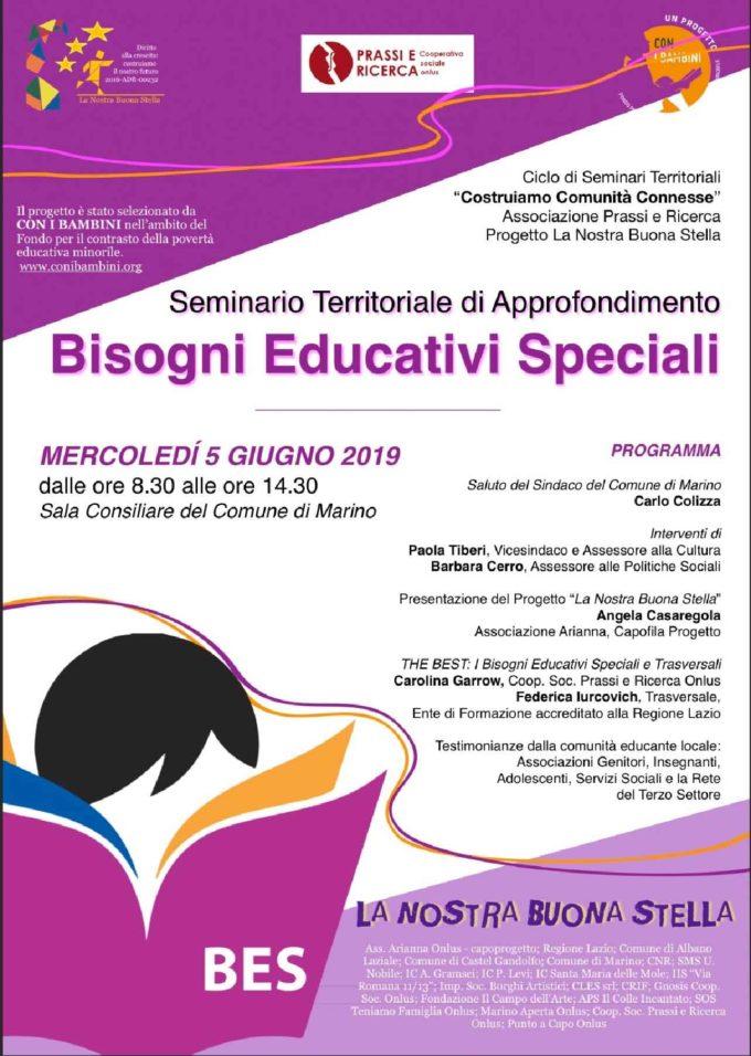 Marino – Seminario sui BISOGNI EDUCATIVI SPECIALI