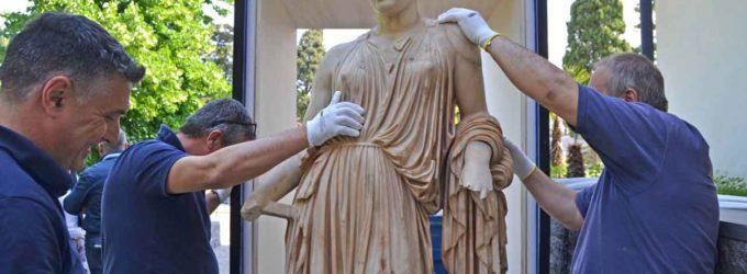 Parte per il Getty Museum di Los Angeles la statua di Demetra
