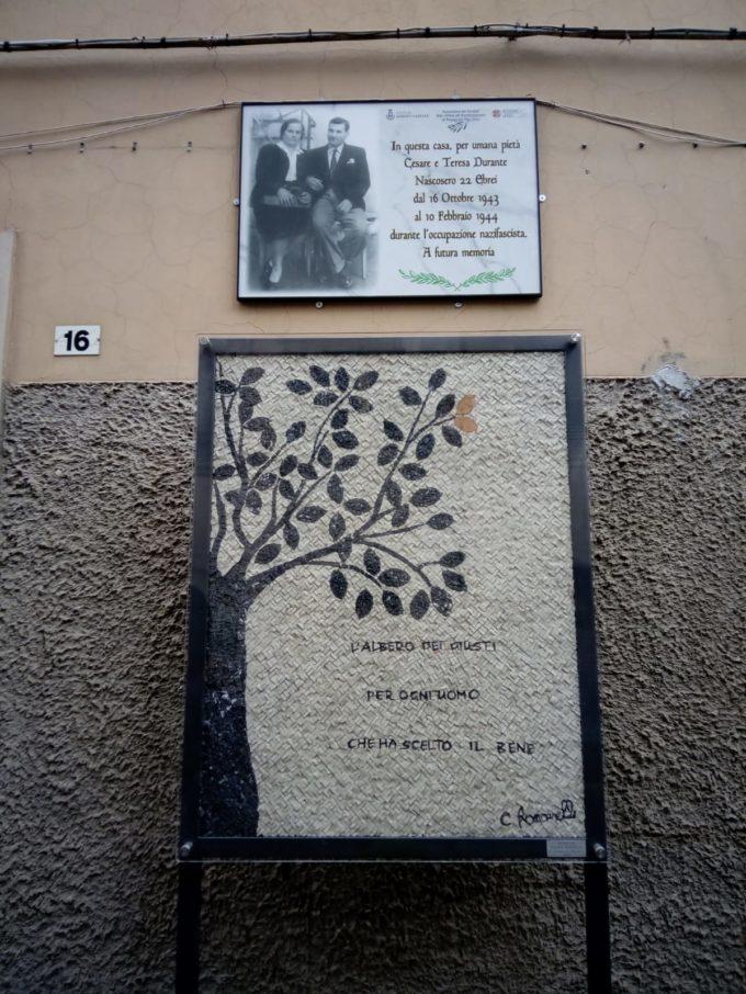 Albano Laziale, inaugurata la targa e il mosaico in memoria Cesare e Teresa Durante