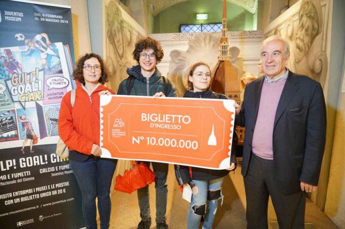 10 milioni di visitatori al Museo Nazionale del Cinema