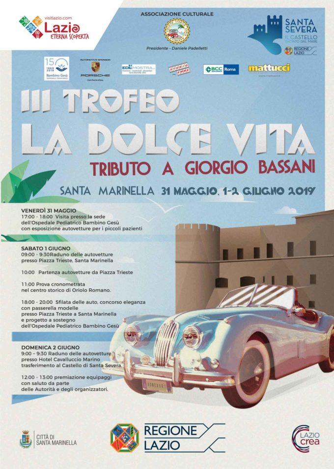 Santa Severa – Torna il Trofeo d'auto d'epoca 'La Dolce Vita'