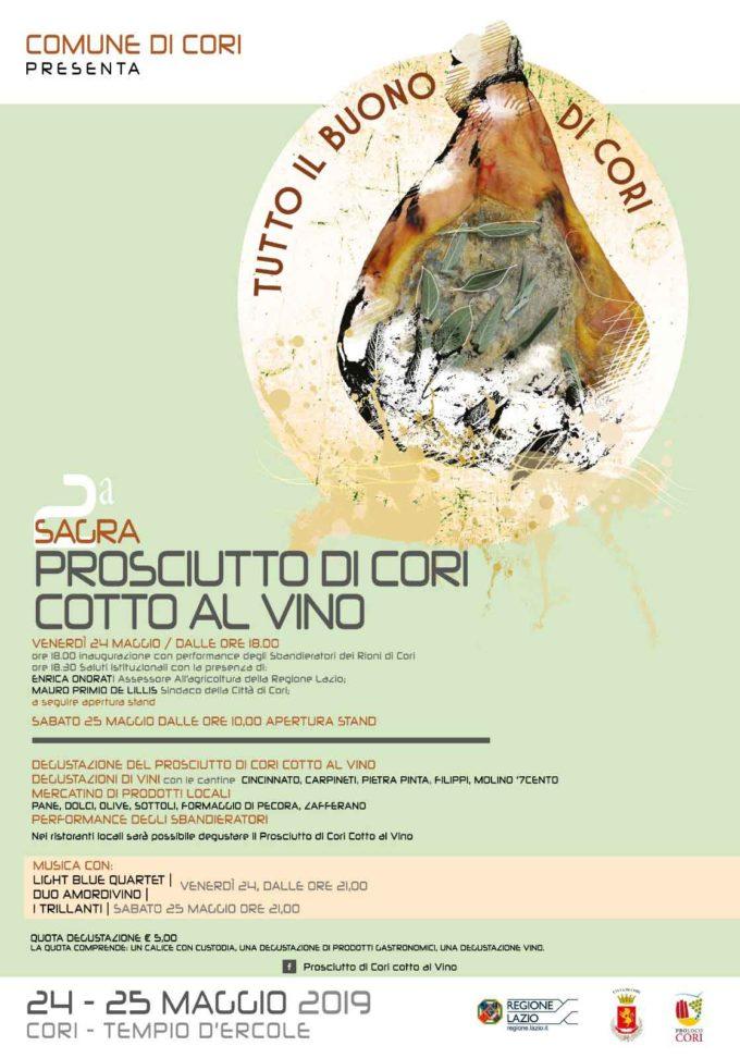 A Cori la Seconda Sagra del prosciutto cotto al vino