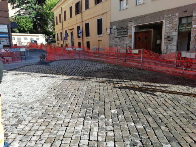 Frascati, da lunedì 13 maggio riaprono al traffico  via Senni, via Diaz e via Del grande