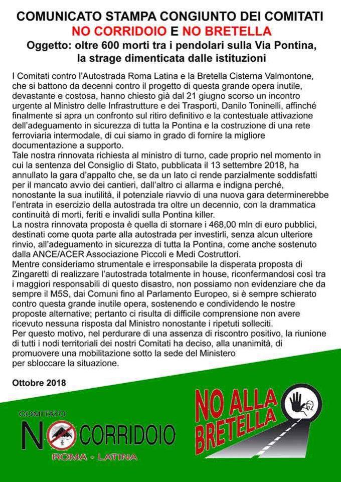 Comitato No Bretella Cisterna-Valmontone