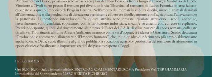 Guidonia-Montecelio -PRODUZIONE E COMMERCIO ALIMENTARE NELL'IMPERO ROMANO