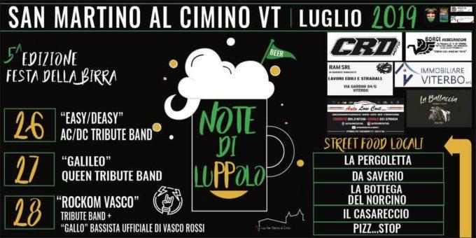 """A San Martino torna """"Note di Luppolo""""  il festival delle birre artigianali"""