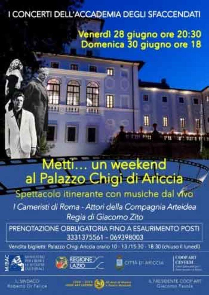 Metti un week end al PALAZZO CHIGI ARICCIA