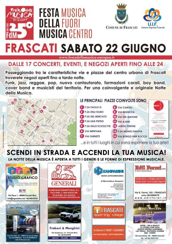 Frascati, torna la Festa della Musica