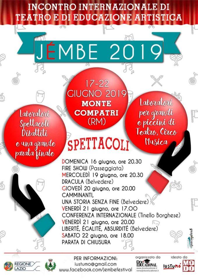 JÉMBE  Teatro internazionale ed educazione artistica fra i Castelli Romani