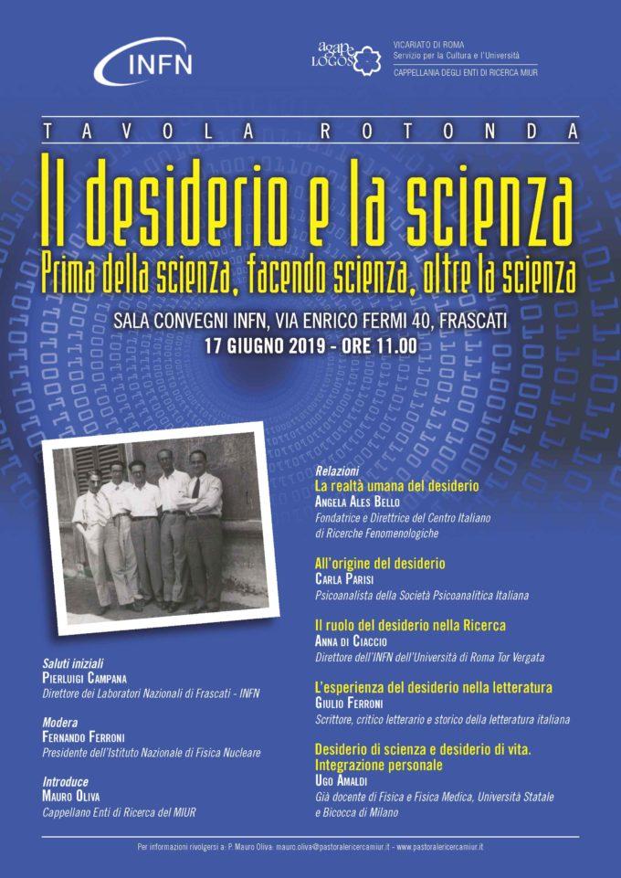 Tavola rotonda: Il desiderio e la scienza – INFN di Frascati