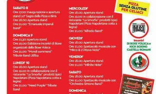 Lariano- Oggi Sabato 8 Giugno al via la Decima edizione della Sagra della Pizza e Birra