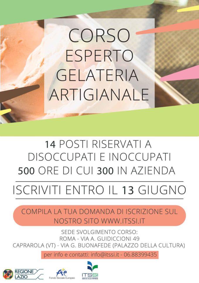 """""""L'arte del gelato"""", un corso gratuito per fare di una passione una professione"""