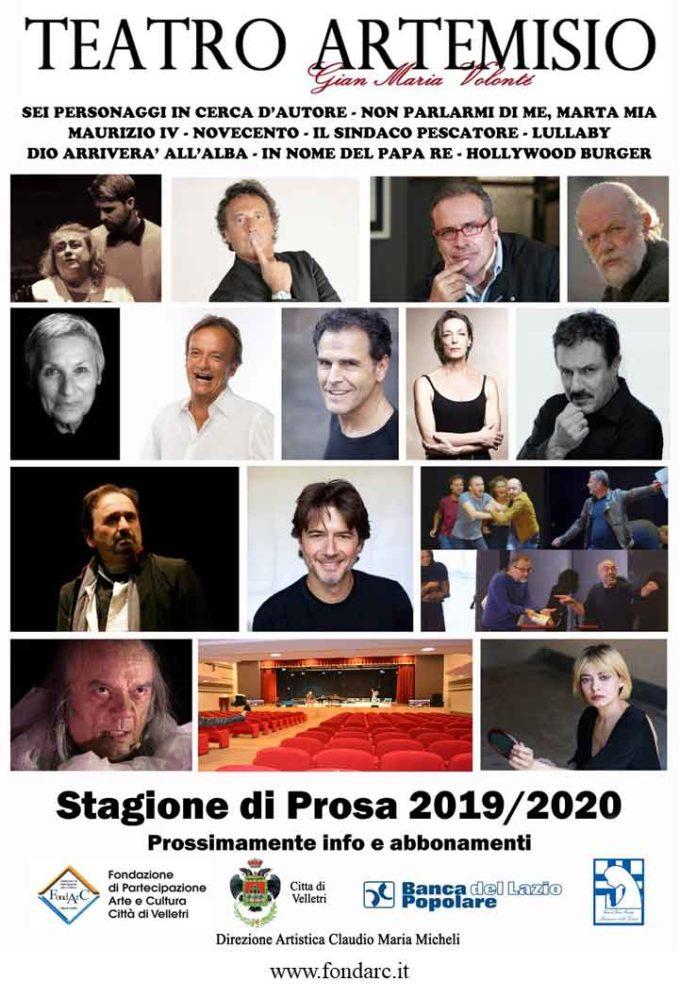 Teatro Artemisio-Volonté, ecco gli spettacoli per la stagione 2019-2020