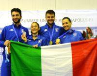 Frascati Scherma protagonista alle Universiadi: quattro medaglie individuali e tre ori a squadre