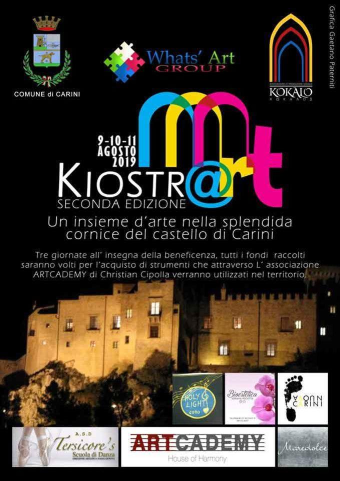 L'arte e la solidarietà: parte oggi l'evento Kiostr'@rt al Castello di Carini