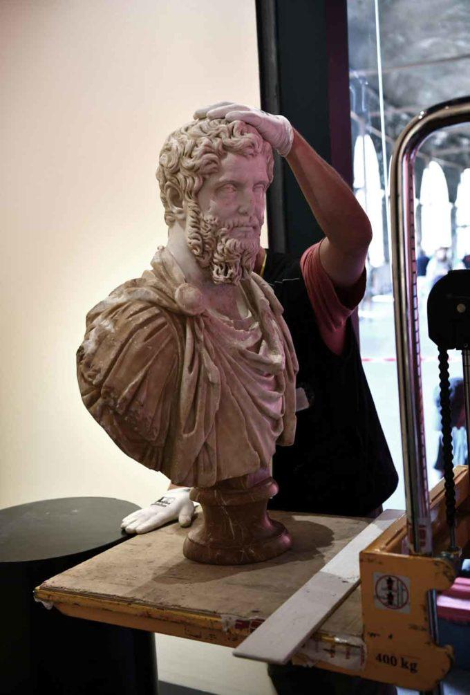 Il Busto ritrovato di Settimio Severo in mostra al Colosseo