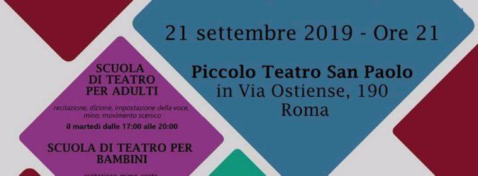 Apre l'Accademia di Recitazione ARCADIA al Piccolo Teatro San Paolo