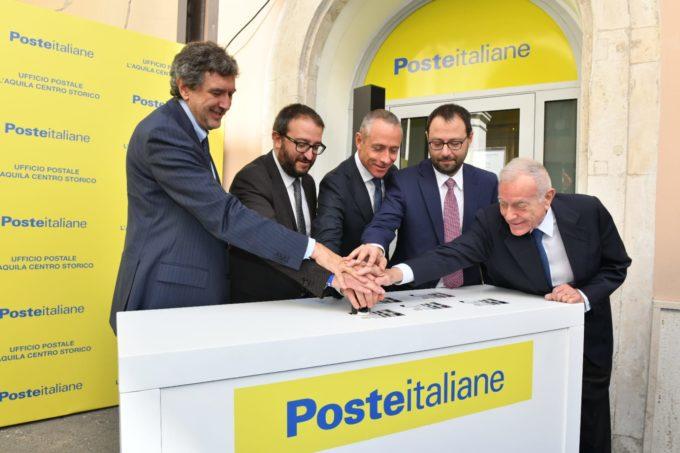 POSTE ITALIANE TORNA NEL CUORE DELL'AQUILA