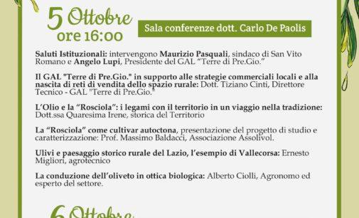 """San Vito Romano – """"L'Olio e L'olivicoltura: le opportunità per il territorio"""""""
