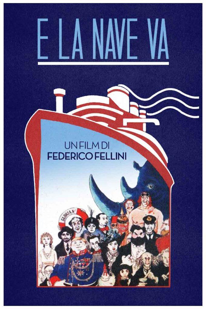 """CON """" E LA NAVE VA"""" di Federico Fellini il ricordo di un genio del montaggio"""