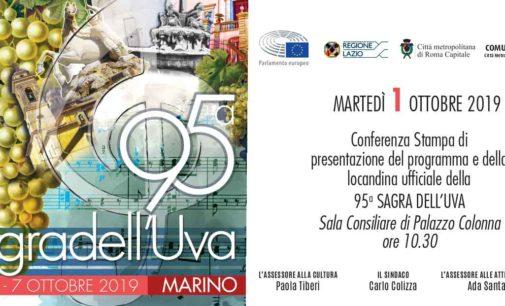 MARINO PRESENTA LA 95^ SAGRA DELL'UVA