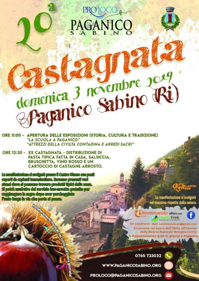 """A Paganico Sabino (RI) la tradizionale """"Castagnata"""""""