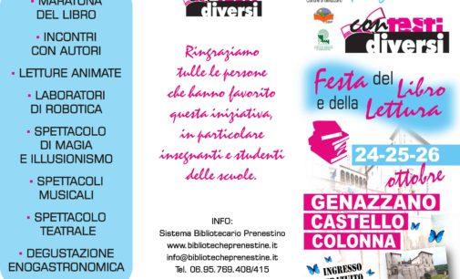 """Dal 24 al 26 Ottobre si svolgerà al Castello Colonna di Genazzano """"Contesti Diversi"""""""