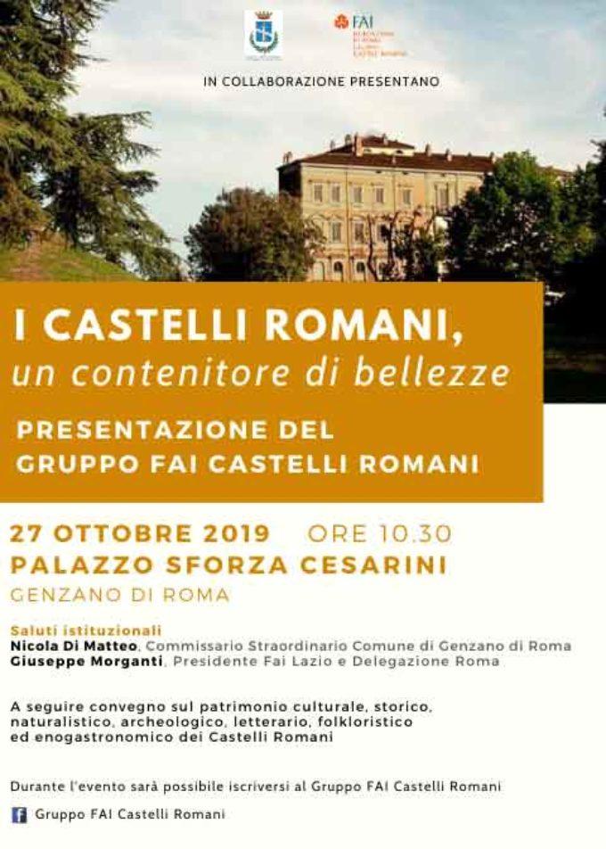 Palazzo Sforza Cesarini ospita la presentazione del Gruppo FAI Castelli Romani