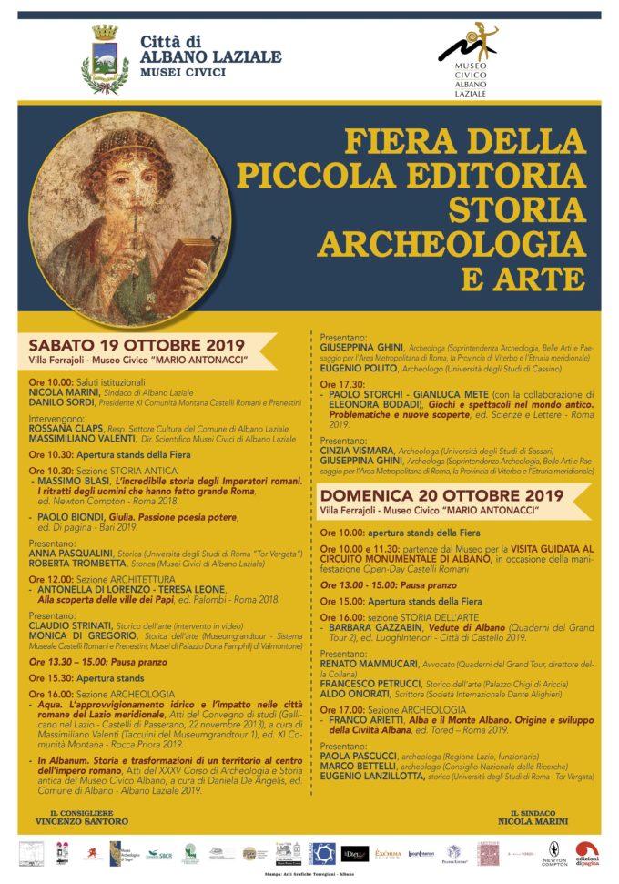 Albano Laziale, Fiera della piccola editoria di Storia Archeologica e Arte