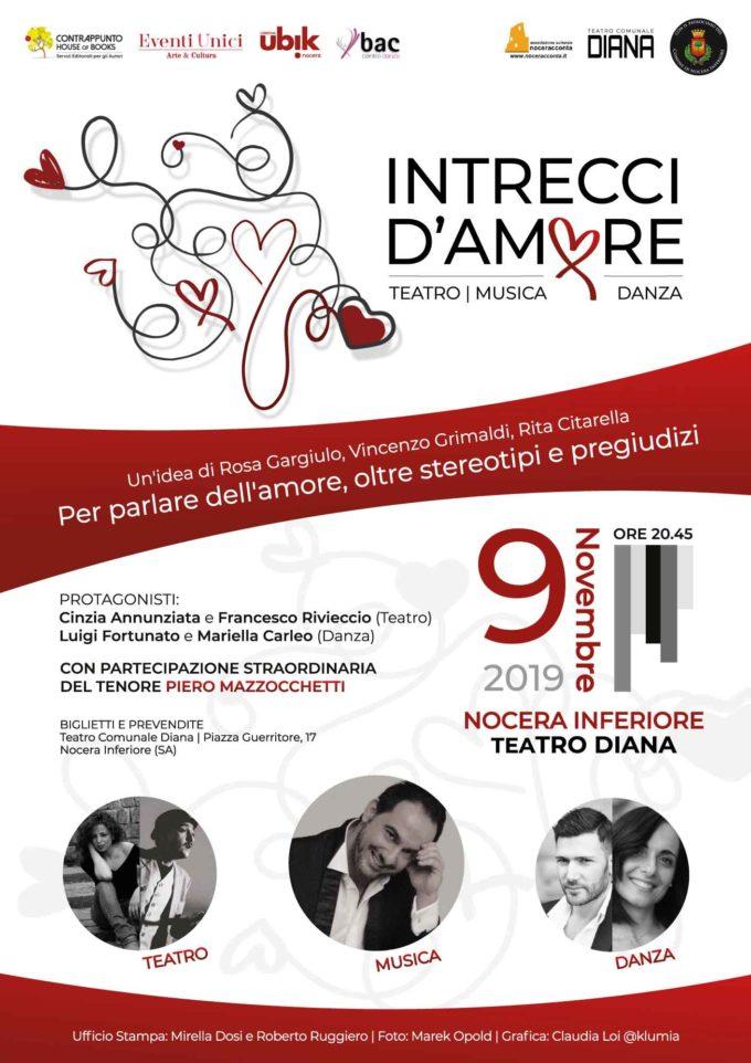 """NOCERA INFERIORE: """"INTRECCI D'AMORE"""", PERFORMANCE DI MUSICA, DANZA E TEATRO"""