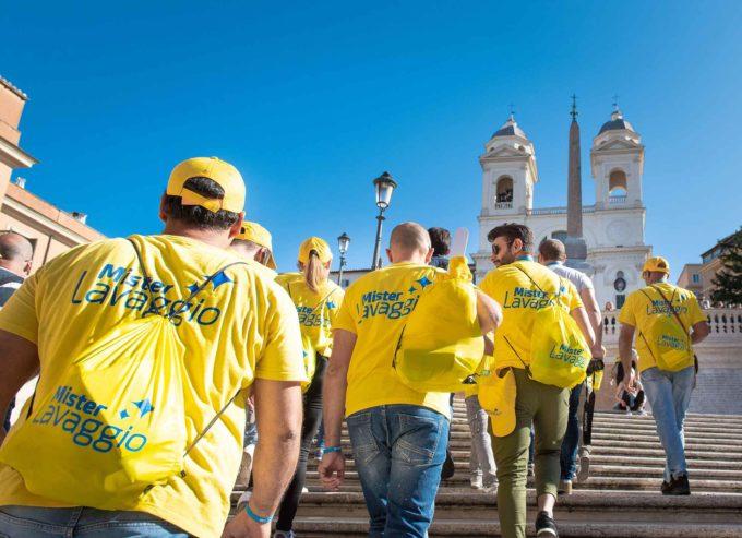 Il centro di Roma si colora di giallo per la salvaguardia dell'ambiente